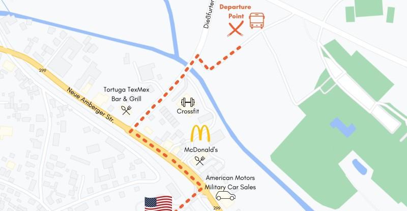 Graf Bus Departure Point