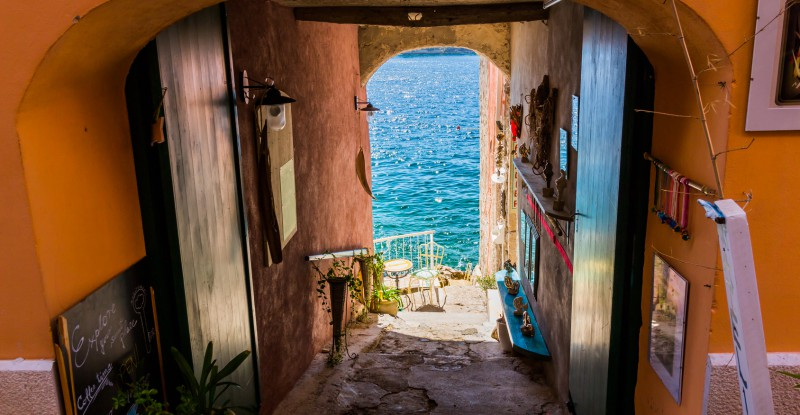 Rovinj, beautiful old town in Istria of Croatia, Europe.