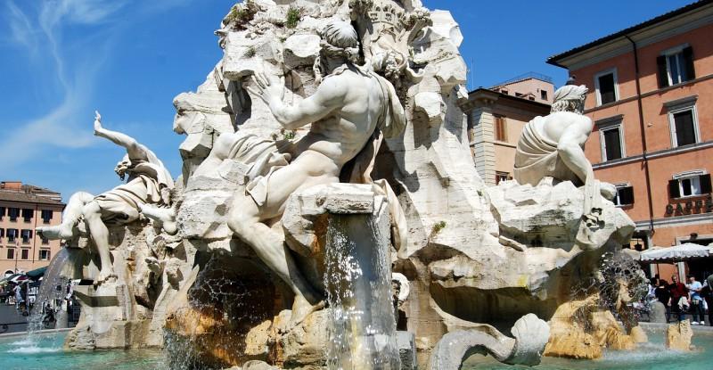 fontana-dei-quattro-fiumi-485279_1280
