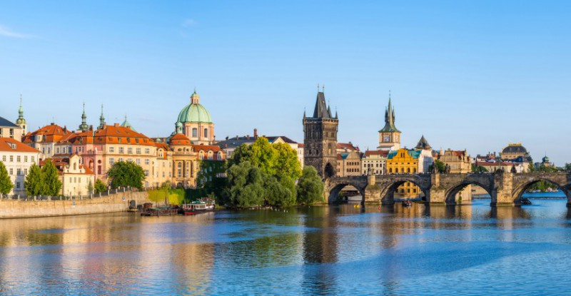 Panorama of Prague city skyline – Czech Republic
