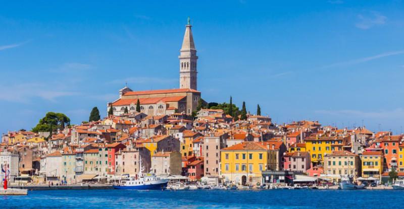 Rovinj, beautiful old town in Istria of Croatia, Europe.