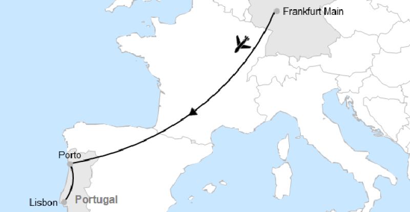 Frankfurt – Porto