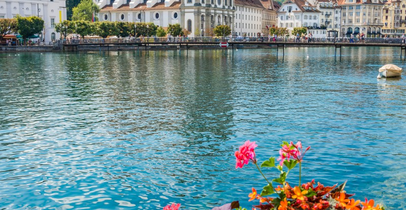 View at the Jesuit church of Luzern – Switzerland