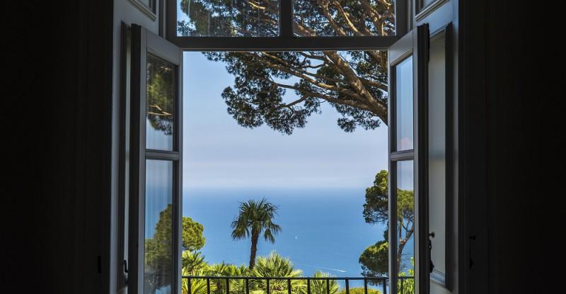 The beautiful gardens of Villa Rufolo in Ravello, Amalfi Coast in Italy