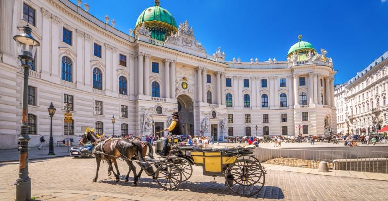 Fiaker vor der Alten Hofburg
