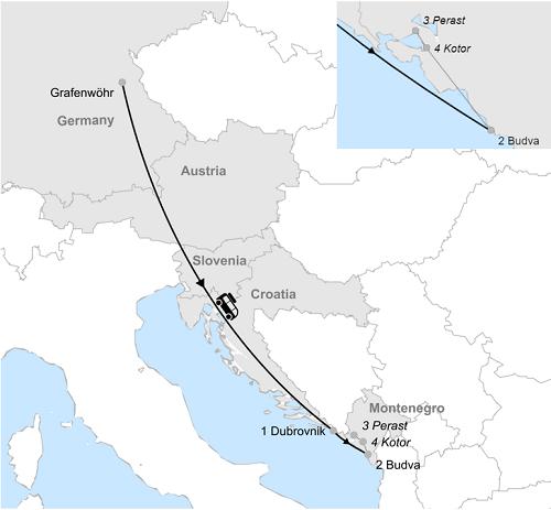 Graf Montenegro mit Vergrößerung