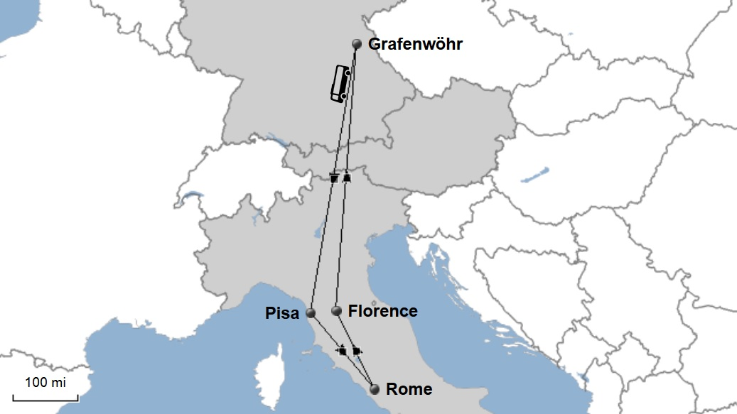 Thanksgiving In Italy Explore Europe - Germany map grafenwoehr