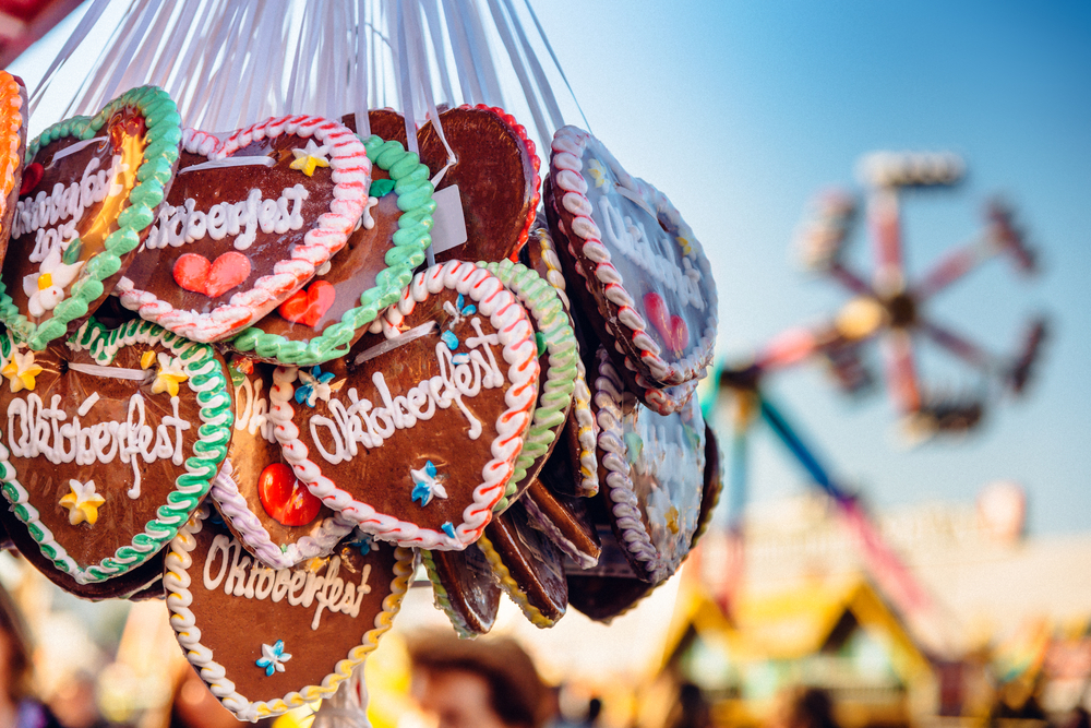 Gingerbread hearts for Oktoberfest
