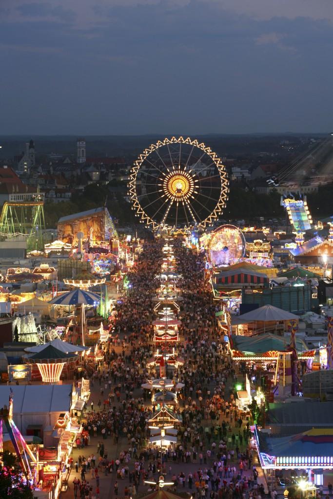Look at the Wiesn, Munich Oktoberfes Beer Festival, Bavaria, Germany