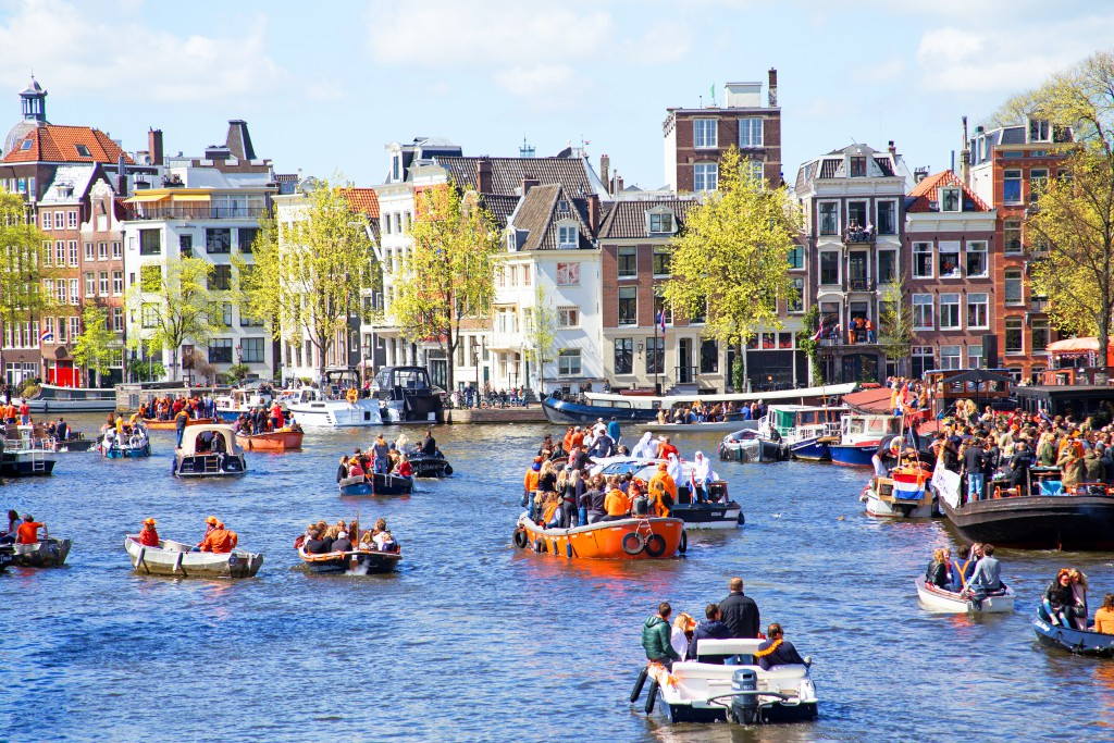 Amsterdam dressed in orange for King's Day