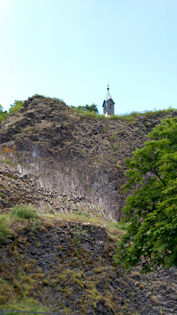 Dormant volcano under the city of Parkstein