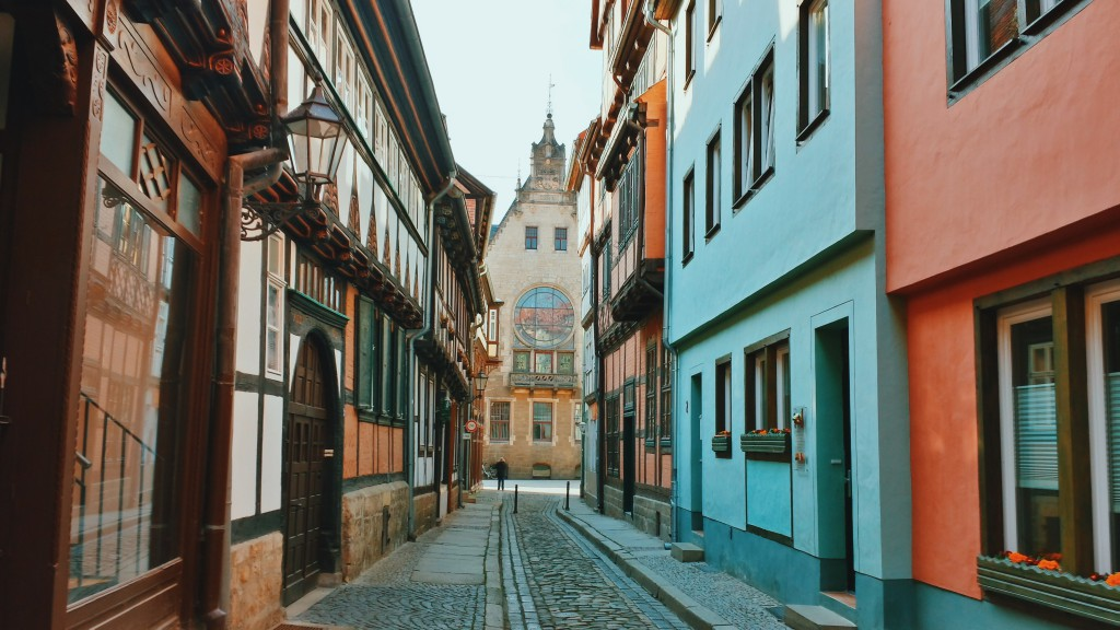 The narrow and colorful streets of Quedlinburg