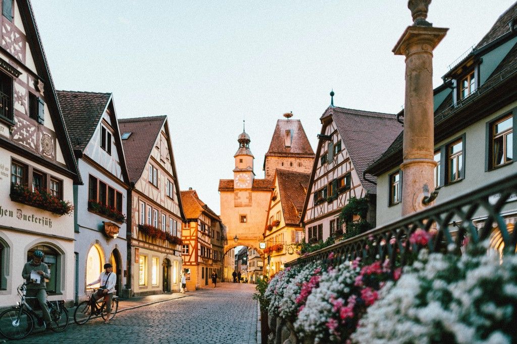 The fairytale town of Rothenburg ob der Tauber