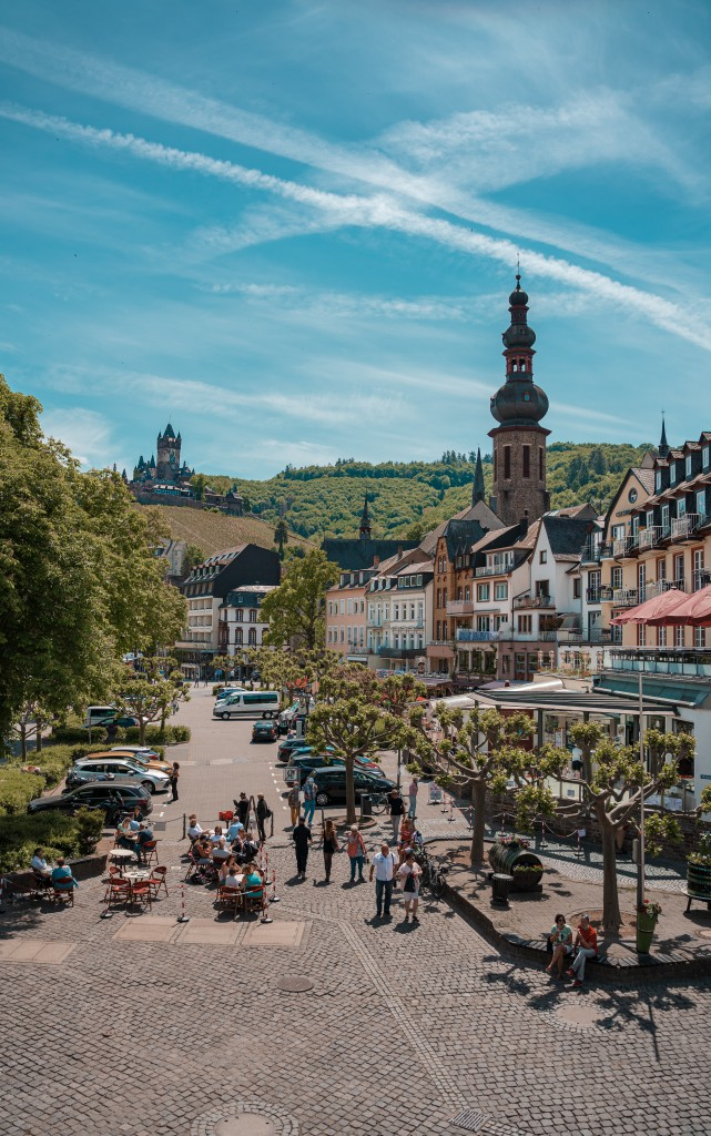 Cochem's streets and church