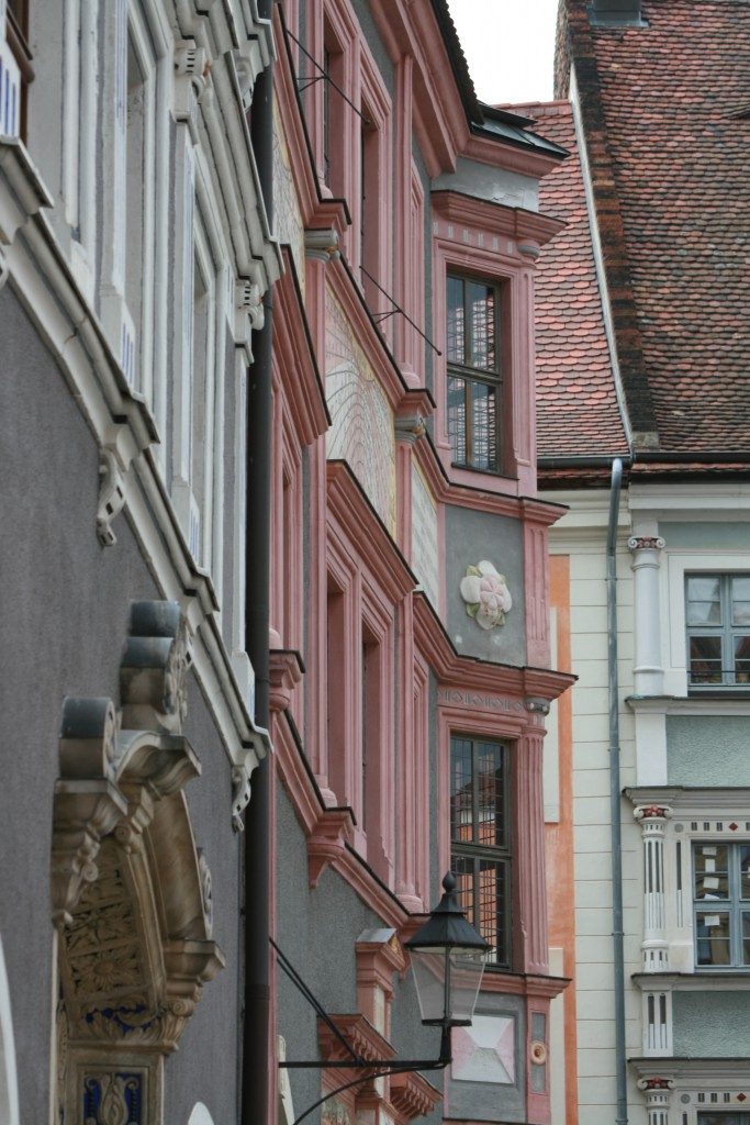 Typical architecture of buildings in Görlitz